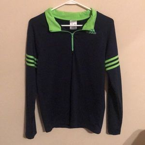 Navy Blue and Green ADIDAS pullover 💜